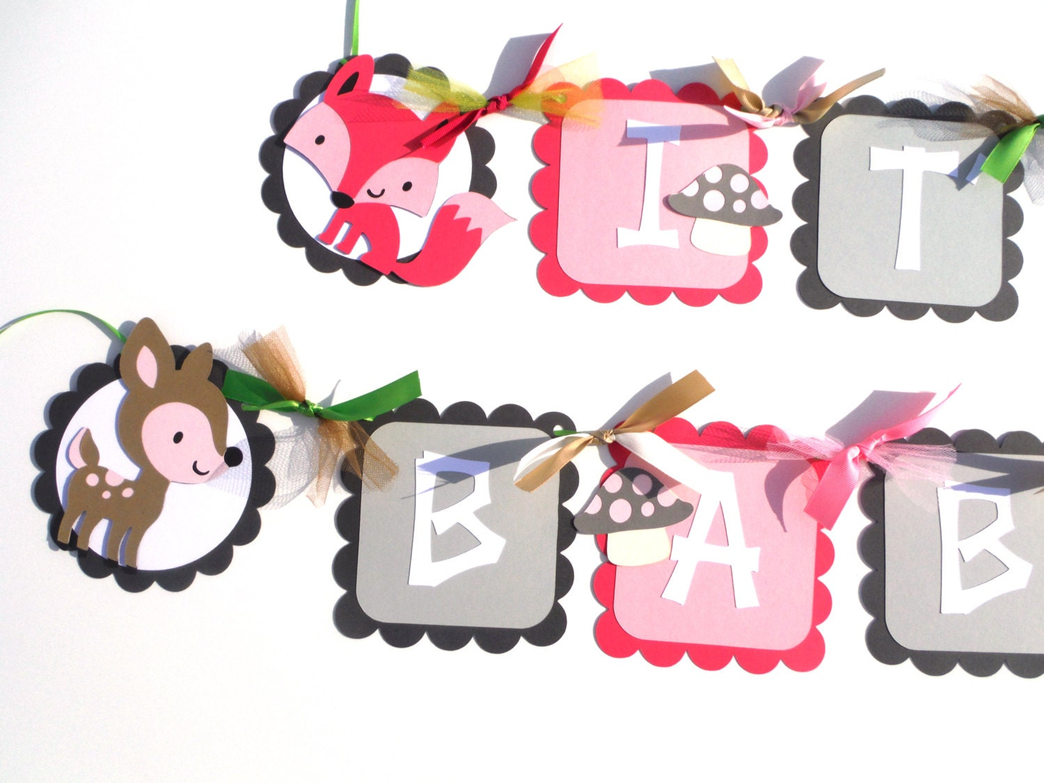 baby shower girl woodland animal theme it 39 s a girl banner