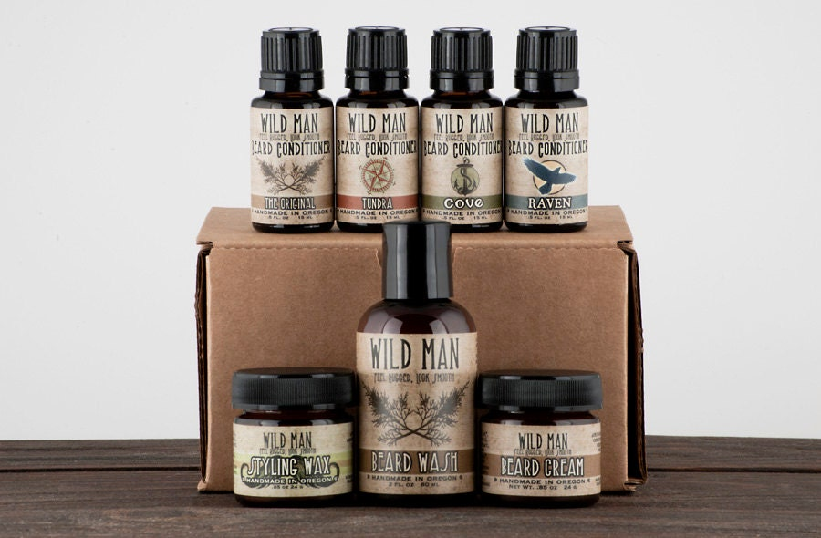 mens grooming kit big wild man beard gift set the complete. Black Bedroom Furniture Sets. Home Design Ideas