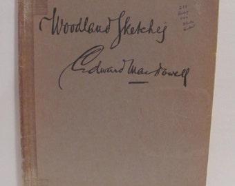 Music  Book-Woodland Sketches - Edward MacDowell-1924
