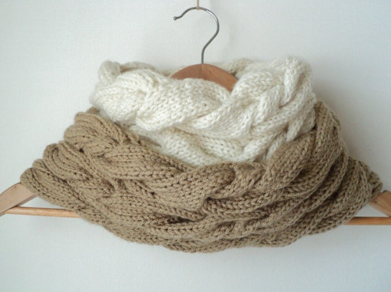 Knit PATTERN - Triple Cable Cowl and Fingerless Gloves