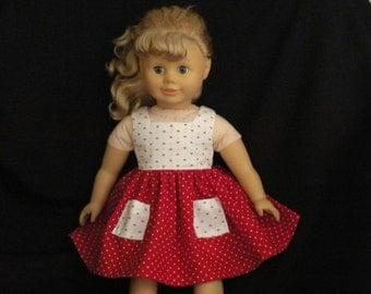 18 Inch Doll Dress & Hat