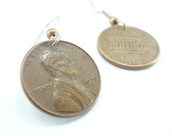 Penny Earrings Personalized With Your Choice Of Years