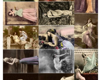 Beauties V3, Vintage Photos of Women Collage Sheet - Digital Download JPG File by Swing Shift Designs
