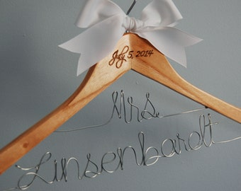 Bride Hanger, Bridal Shower, Wedding Gift,Bridesmaid Gift, Wedding Shower, Wedding Hanger, Gift Under 50, Mother of the Bride, Hanger, Bride