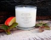Organic Candle OAK BARREL CIDER Coconut Wax Massage Candles Essential Oils 10 oz