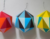 Modern, BRIGHT, paper, Christmas Decoration