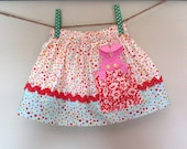 Girl's Skirt Bunny Pocket Girl's Skirt Pink blue red