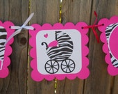 MADE TO ORDER Zebra Baby Shower Banner - Customize Your Way