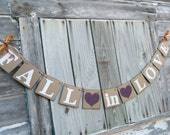 Fall in Love Banner, Barn Wedding Decorations, Bridal Shower Decorations, Autumn Wedding Banner, Fall in Love sign, Custom Colors