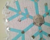 Snowflake Pinata.  Large Custom Snowflake Pinata. Frozen Birthday Party