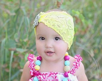Lemon Zest Shabby Bohemian Headband