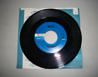 """Vintage 1960's 45 rpm Record """"More"""" by Vic Dana"""