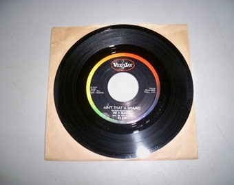 "Vintage 1960's 45 rpm Record ""Ain't That A Shame"" by The 4 Seasons"