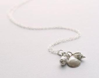 Handmade Silver Shells Necklace