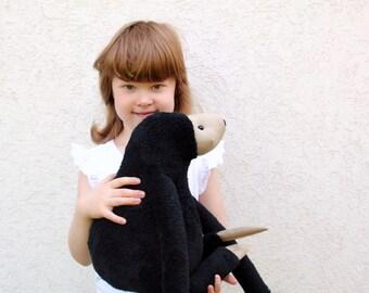 Black Sloth Mama, stuffed animal toy for children