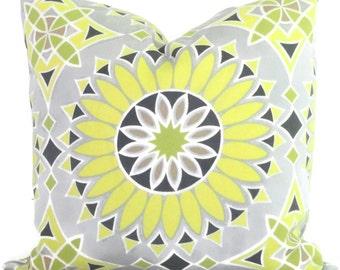 Trina Turk LA Soleil Driftwood Designer Indoor Outdoor Decorative Pillow Cover, Schumacher, 18x18, 20x20,22x22