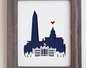 Washington DC.  Personalized Gift or Wedding Gift