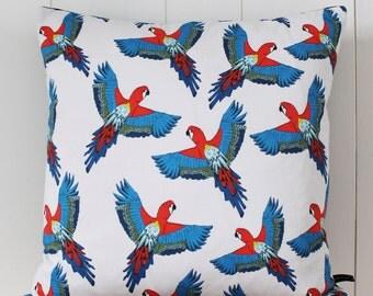 Parrot Cushion - tropical cushion - parrot pillow -  pillow cover - parrot - handmade cushion - bird cushion - cushion cover - pillow