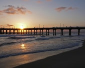 16x20 Manhattan Beach Pier at Sunset
