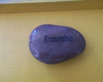 Remember Engraved Energy River Rock