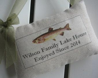 Housewarming Gift, Family Name, Fish, Lake House, Established Date, Personalized Gift, Custom Sign, Fishing, Custom Name