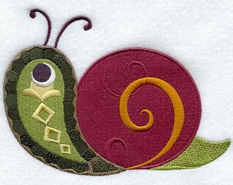 Paisley Snail Embroidered Flour Sack Hand/Dish Towel