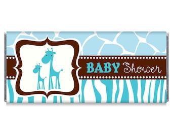 wild safari baby shower giraffe candy bar wrappers giraffe baby