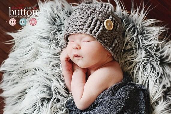 Baby Hat, Greybeard Weave Stitch, Photo Prop Shop