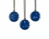 Zodiac necklace, constellation jewelry pendant zodiac Libra necklace