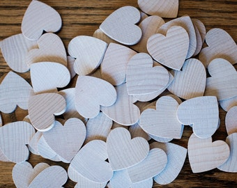 50 Wood Heart Cutout Shape for birthday anniversary boards wood wedding signature hearts