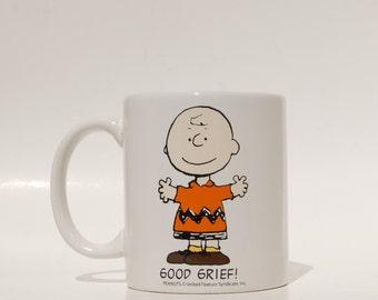 Charlie Brown Mug Good Grief Peanuts Charles Schultz