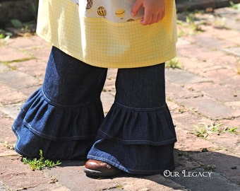 Double Ruffle Jeans 2 colors to choose from size 12 month to girl's size 10