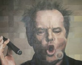 Jack Nicholson signed and mounted print