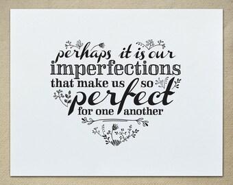 My Imperfect Heart / DIY Digital Print 11x14