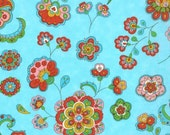 Gypsy Girl - Pale Blue Sky Floral from Moda