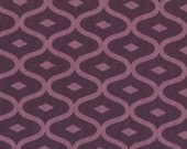 Simply Style - Geometric Ogee Purple Eggplant by V and Co from Moda