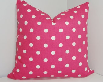 Decorative Pillow Candy Pink & White Polka Dot Pillow Nursery Baby Pillow Covers 18x18