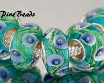 Murano Glass Lampwork Glass Bead Fits European Style Bracelets European Charm Bracelets