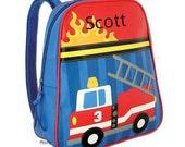 Personalized Backpack  Stephen Joseph GoGo Fire Truck