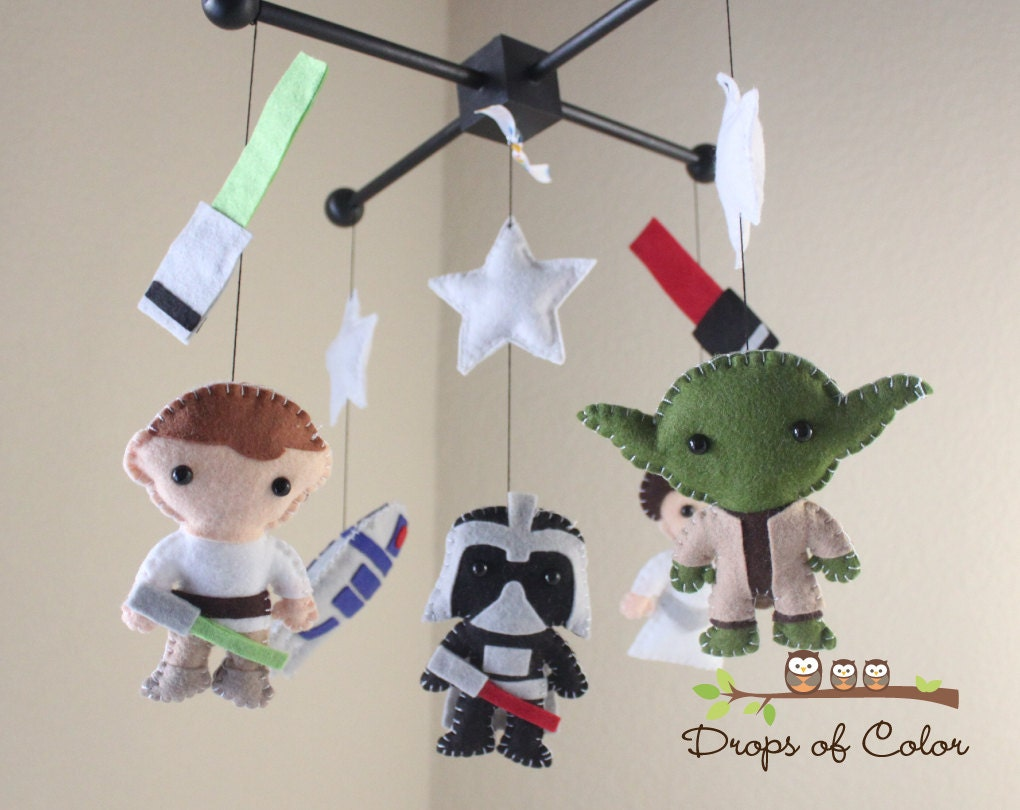Baby mobile baby krippe mobile star wars von dropsofcolorshop