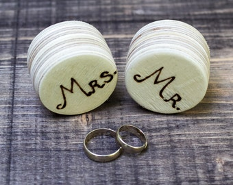 Ring Bearer Box Wedding Ring Boxes Set of 2 Mr. and Mrs/ Hers & His Small Wedding Boxes  Pillow Alternative  Natural Wedding ohtteam