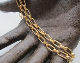 Vintage Brass Bracelet Chains With Connectors 2Pcs.