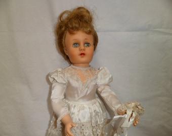 Mid century Fashion Doll Bridal 18 inch Bridal