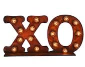 XO Sign, Illuminated