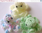 MOVING SALE Octopus Finger Puppet Set of Three
