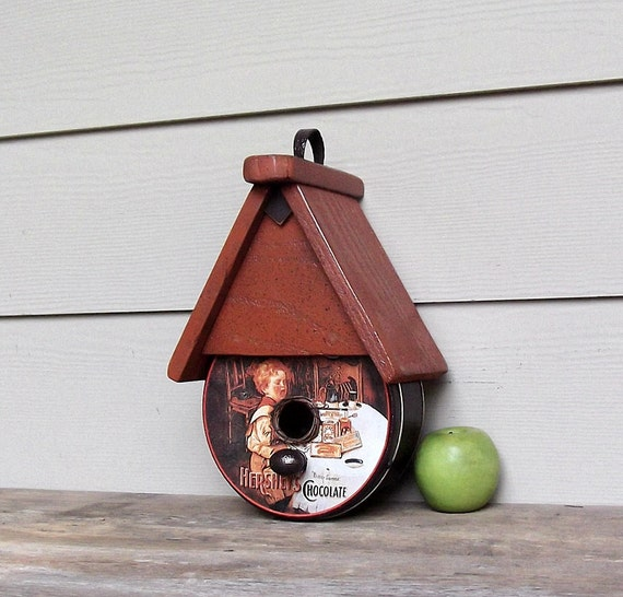 hershey 39 s chocolate birdhouse tin can birdhouse candy