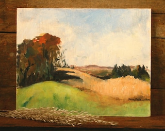original oil painting, Landscape painting, Autumn landscape, Fall colors