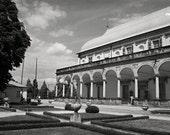Prague in black and white, Queen Annes summer villa, Renaissance architecture, Belvedere, architecture photo, city photo, 12x8, giclee print