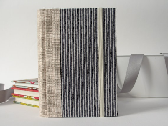 2014 Small Handmade Medium Stripes Weekly Planner by ArteeeLuarBookbinding