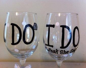 I do and I do what she says wine glasses